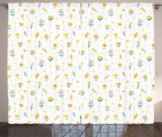 Wildflowers Ornate Curtain