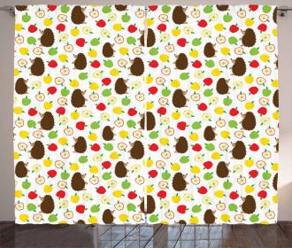 Baby Animals Apples Curtain