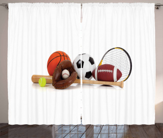 Assorted Sports Equipment Curtain