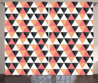 Pastel Triangles Curtain