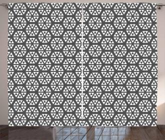 Monochrome Fractal Curtain