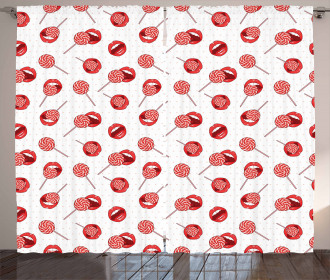Sexy Woman Lips Candies Curtain