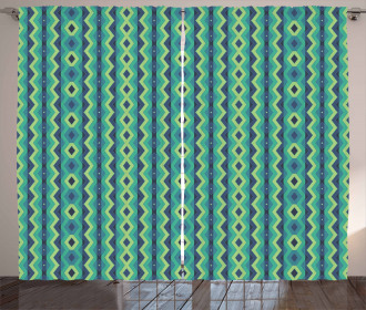 Vintage Geometrical Curtain