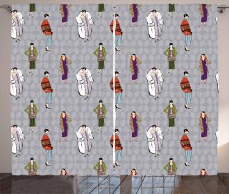 Flapper Girls 20s Fashion Curtain