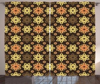 Nostalgic Flowers Shabby Curtain