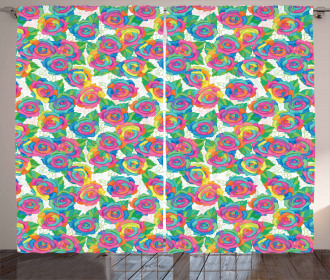 Spring Rose Blossoms Curtain