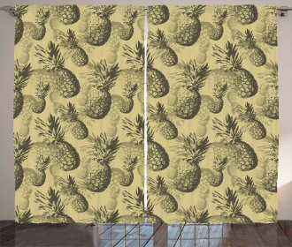 Tropic Grunge Pattern Curtain