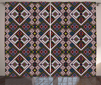 Ukrainian Ethnic Motif Curtain