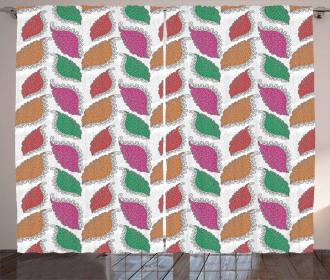 Swirled Ethnic Petals Curtain