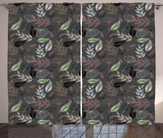 Abstract Modern Blossoms Curtain