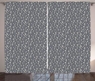 Abstract Night Skyline Curtain