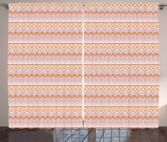 Ethnic Rhombus Curtain