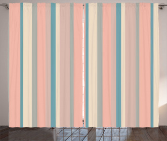 Barcode Style Stripes Curtain
