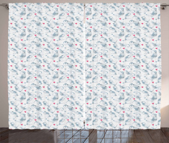 Winter Snowflakes Pattern Curtain
