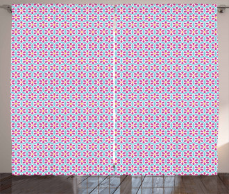 Overlapping Circles Pattern Curtain