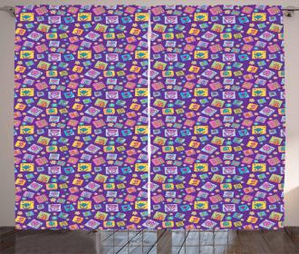 Cartoon Flower Pattern Curtain