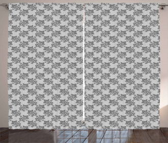 Lace Flower Pattern Curtain