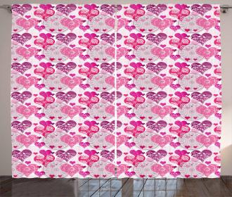 Symbols of Love Design Curtain
