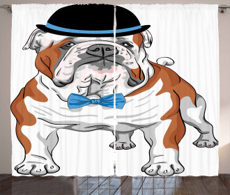 Hipster Dog Curtain