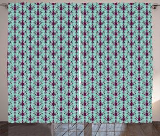 Floral Vase Pattern Curtain