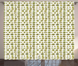 Abstract Foliage Design Curtain