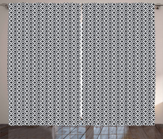 Rhombus and Zigzags Curtain