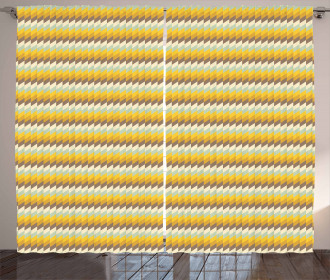 Herringbone Mosaic Lines Curtain