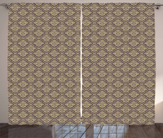 Antique Curly Damask Curtain