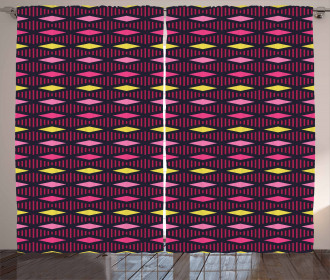 Rhombuses Stripes Curtain