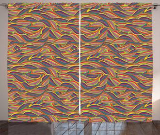 Abstract Swirl Pattern Curtain