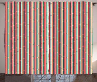Retro Sixties Motifs Curtain