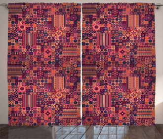 Warm Ethnic Motifs Curtain