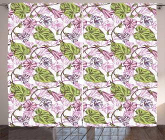Ornate Foliage Design Curtain