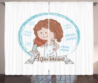 Girl with a Bucket Curtain