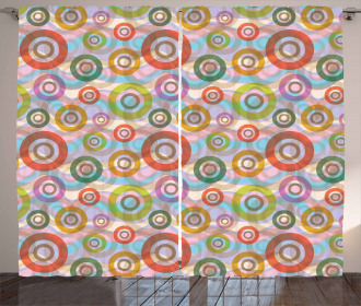Hippie Colorful Circles Curtain