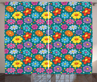Fresh Spring Baby Pattern Curtain