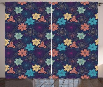 Exotic Hibiscus Design Curtain