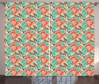 Seasonal Pastel Animals Curtain
