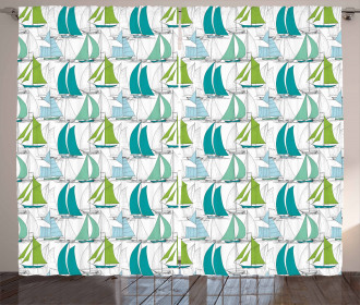 Sailing Boat Theme Curtain