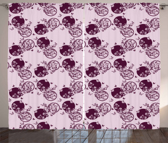 Sakura Blossom Pattern Curtain