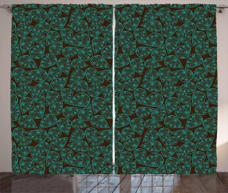 Asian Foliage Pattern Curtain