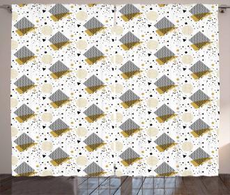 Geometric Arrangement Curtain