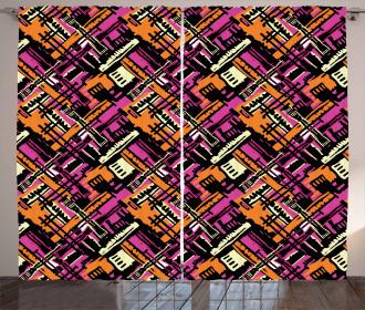 Modern Artistic Theme Curtain
