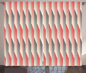 Retro Bicolor Striped Curtain