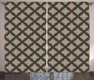 Vintage Arabic Tile Curtain