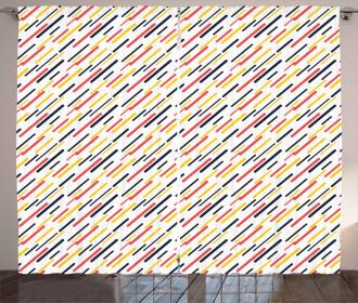 Diagonal Simple Lines Curtain