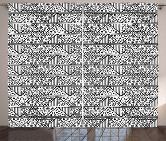 Ethnic Triangle Curtain
