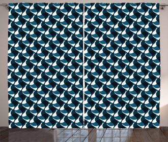 Wavy Stripes Pattern Curtain