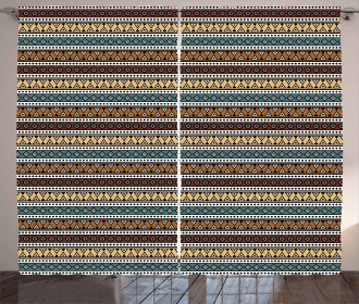Ethnic Shapes Pattern Curtain