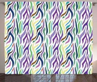 Oriental Leopard Motif Curtain